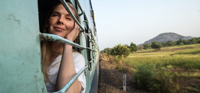 Safety measures for lonely female travellers on train